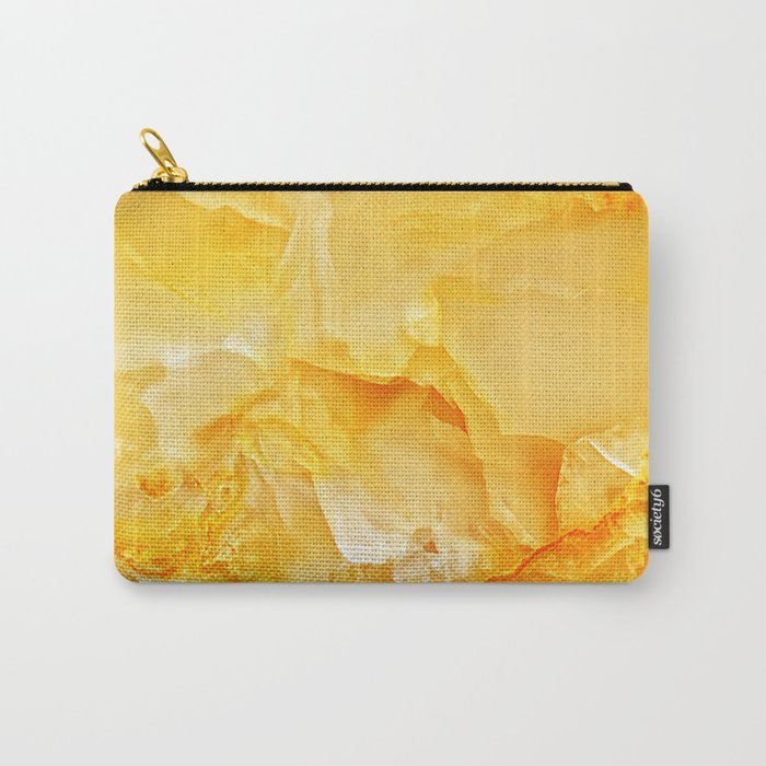 Yellow Onyx Marble Carry All Pouch