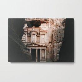 The Treasury (Al Khazneh) Photo | Jordan Petra Travel Photography | Treasury In Petra  Metal Print