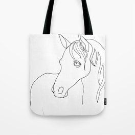 Horse, line drawing Tote Bag