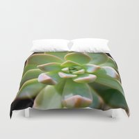 succulent Duvet Covers featuring Succulent by Wandering Star Trails