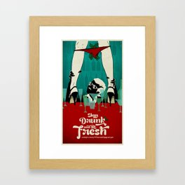 Stay Drunk and be Fresh! - Christmas wish Framed Art Print