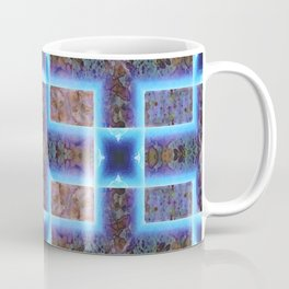 geometric ink blot and smudge ancient techno geek pattern Coffee Mug