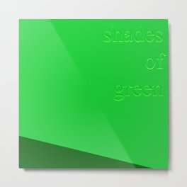 Shades of Green Metal Print
