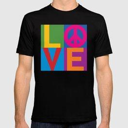 Love Peace Color Blocked T-shirt