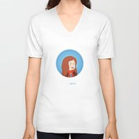amy pond V-neck T-shirts featuring Amy Pond by Addie Thompson