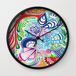 Happy Colors Wall Clock