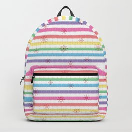 Frosen Past Memories Colorful Winter Backpack