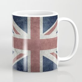 UK Flag, Retro Desaturated 1:2 scale Coffee Mug