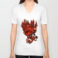 karma V-neck T-shirts featuring Karma by angrymonk