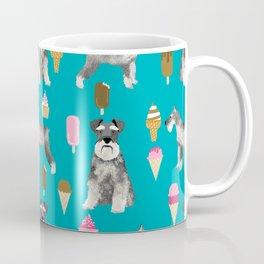schnauzer ice cream dog breed pet pattern dog mom Coffee Mug