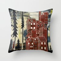 karl Throw Pillows featuring Karl by jesse best