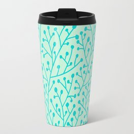 Berry Branches – Mint & Turquoise Palette Travel Mug