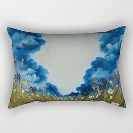 Sky Break, Skyscape, Landscape, Field of Flowers, Wild Flowers Rectangular Pillow
