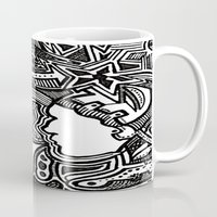 techno Mugs featuring Techno by Madison R. Leavelle