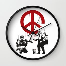CND soldiers 2005 - Banksy Graffiti Wall Clock
