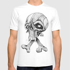 Skullduggery White Mens Fitted Tee SMALL