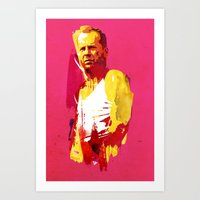 die hard Art Prints featuring Live fast die hard by Robert Farkas