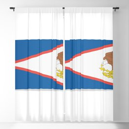 Flag of American Samoa. The slit in the paper with shadows. Blackout Curtain