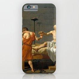 Jacques Louis David The Death of Socrates iPhone Case