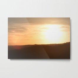 Sunset over the Eifel Metal Print