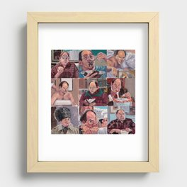 9 shades of Costanzas Recessed Framed Print