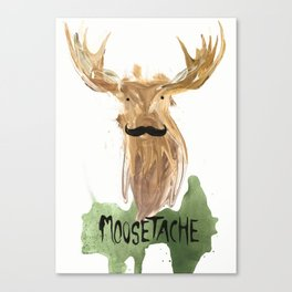 Moosetache Canvas Print