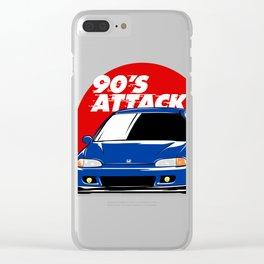 Honda Civic EG - 90's Attack Clear iPhone Case