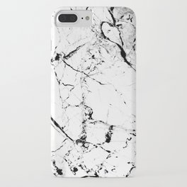 Marble Texture Print (Blanc) iPhone Case