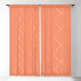 Moroccan Diamond Stripe in Orange Blackout Curtain