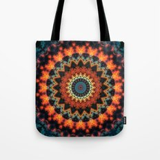 Fundamental Spiral Mandala Tote Bag