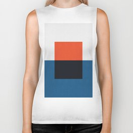 Blue and red composition XX Biker Tank