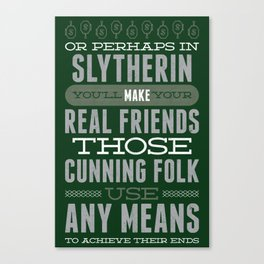 Slytherin Canvas Print