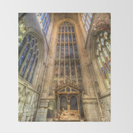 Bath Abbey Throw Blanket