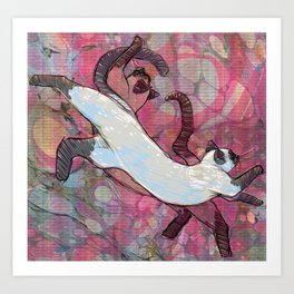 Illustration ; Siamese Dream Art Print