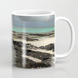 Mauritius beach, black rock Coffee Mug