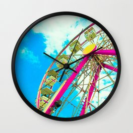 Candy Colored Ferris Wheel Wall Clock
