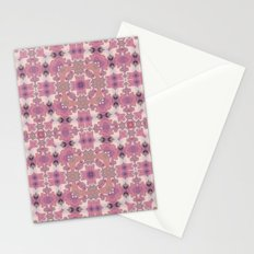 Abstract pattern in pink beige Browns . Ornament . Stationery Cards
