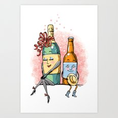 Bottled Romance Art Print