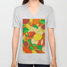 Cute Fruits! Unisex V-Neck