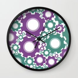 A Cog design in modern colours Wall Clock
