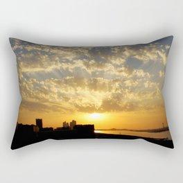 Sunset on the Marina Rectangular Pillow