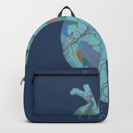 love to travel-world map 2 Backpack