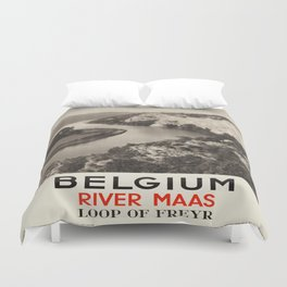 Vintage poster - Belgium Duvet Cover