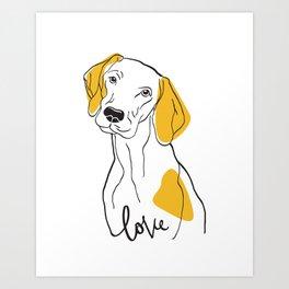 Dog Modern Line Art Art Print