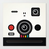 polaroid Canvas Prints featuring polaroid by The Geek Store