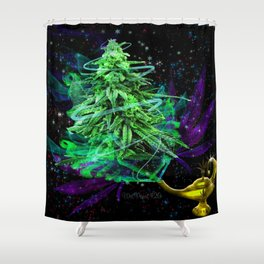 Magic Lamp Ganja Shower Curtain