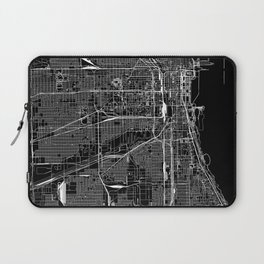 Chicago Black Map Laptop Sleeve