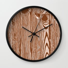 c13D Woodgrain Wall Clock