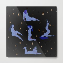 Moon Night Ritual Metal Print