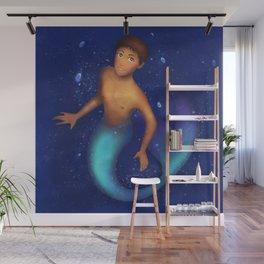 Mermaid Lance Wall Mural